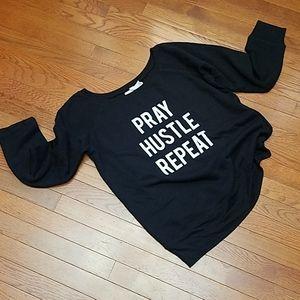 Bella XL Sweatshirt V Neck Black NEW